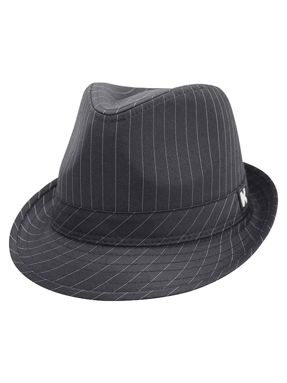d92406c7d8f56 Brown Pinstripe Fedora Brim Hat - Siphosjamaica