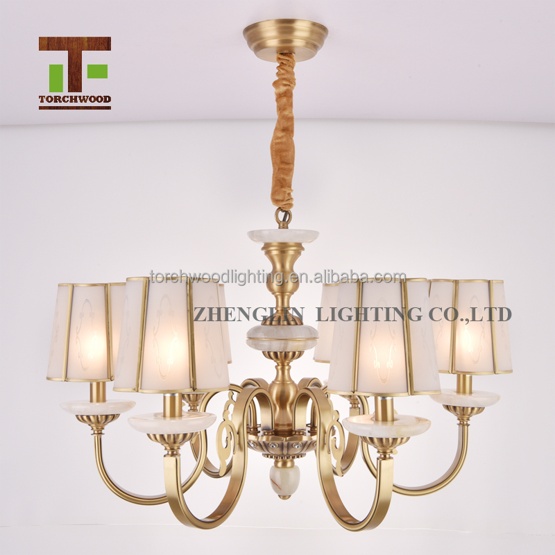 New design Europe style modern giant antique brass copper chandelier