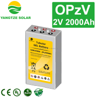 20 years life 2v 2000ah deep cycle lead acid tubular battery