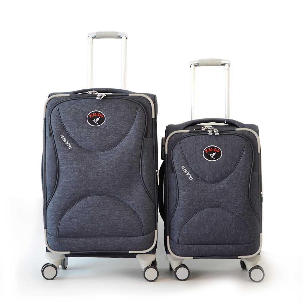 Расширяемая ткань путешествия чемодан наборы заводская цена тележка чемодан рекламные тележки чемодан
