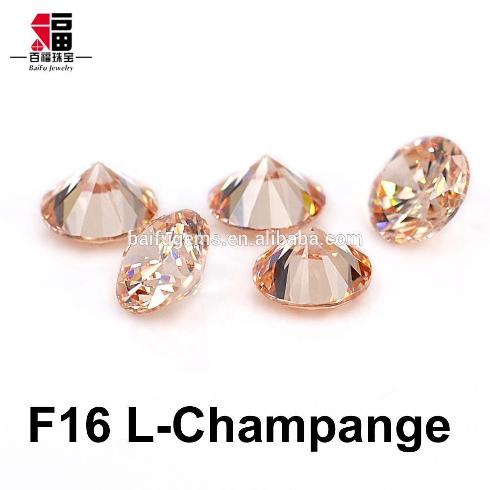 1000pcs 1mm Champagne Cubic Zirconia Round Cut Loose Gemstone Jewelry stones