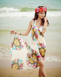 2014 Fashion cover up beach wrap multi wrap dress