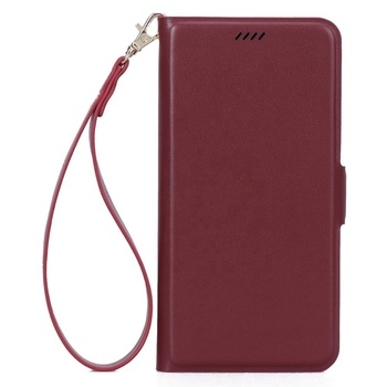 Wallet leather phone case for iphone X XS MAX pu leather cellphone case with hand strap