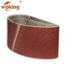 Emery abrasive sanding belts for wide belt sander