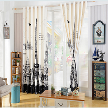 European style Pattern electric blackout window curtains