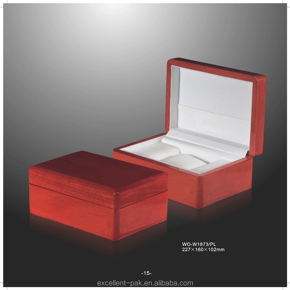 venta caliente de lujo de alta calidad de madera nico de alta pintura brillante reloj storage