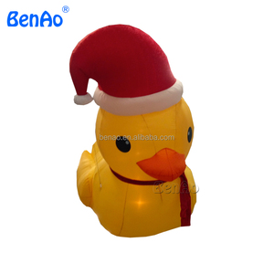 Christmas Duck.X195 Giant Inflatable Christmas Santa Yellow Duck Helium Balloons With Factory Price