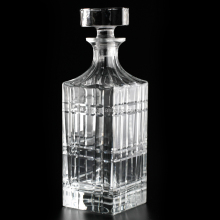 860 ml grid <span class=keywords><strong>dekorative</strong></span> square luxury kristall glas rum/whisky wein flasche mit glas kork