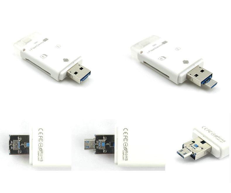 Новые! 3 в 1 iFlash флэш-накопитель USB Micro SD SDHC TF карта памяти писатель для iPhone 5 / 5S / 6 / 6 plus / ipad / itouch / все android-телефонов