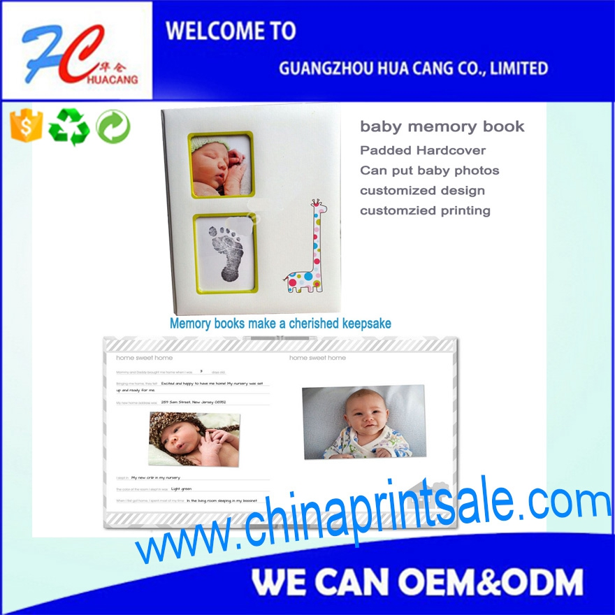 TOP and Cute popular hard cover kid book printing service in Guangzhou/kids memory book printing