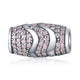 Authentic 925 Sterling Silver Pink Color CZ Beads Charms fit Bracelet Fashion Jewelry Accessories Making PSMB0747