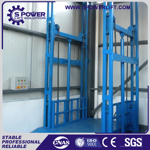 high quality steel hydraulic vertical guide rail goods lift scaffolding