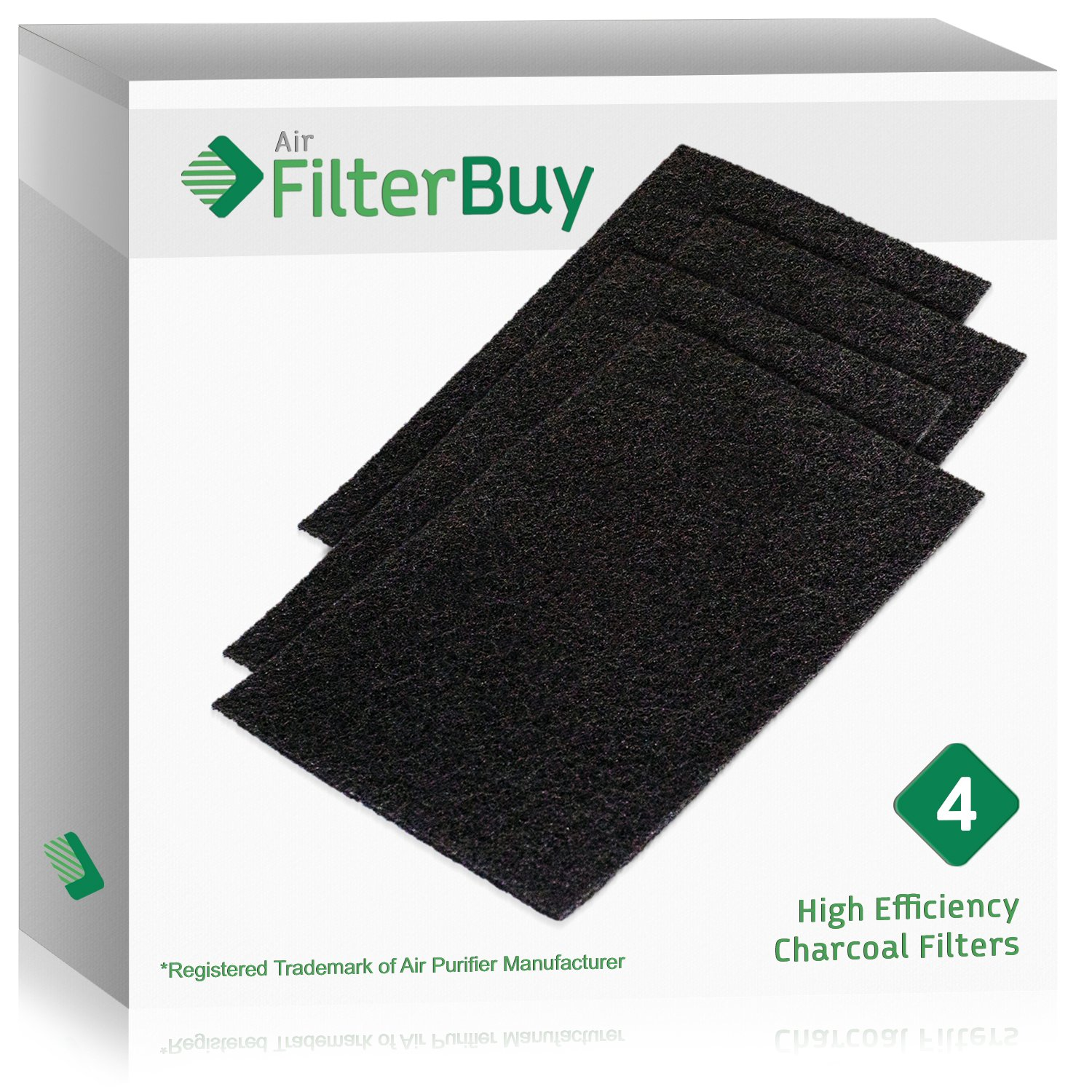 4 - FilterBuy Holmes HAPF60 (HPF600) Replacement Carbon Pre Filters, Filter C. Designed by FilterBuy to fit Holmes Harmony Air Purifiers.