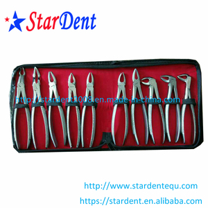 Dental Tooth Extracting Forceps Gold plated/ Dental Extraction Forceps
