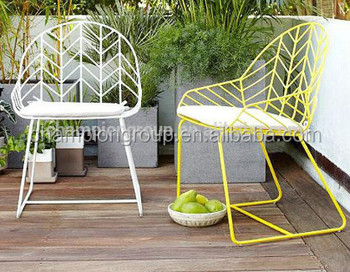 Wire Mesh Outdoor Chair, White Steel Side Chair WR 3341