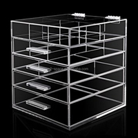 Cosmetic Store Use Handmade Clear Acrylic Makeup Organizer