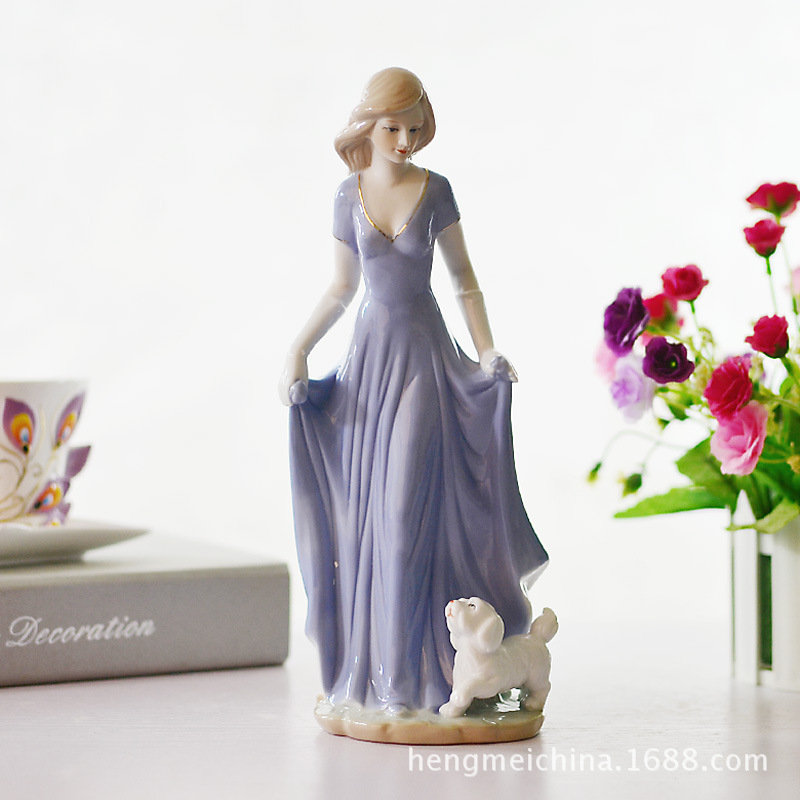 026 Western European women home decorations / furnishings / Jingdezhen crafts / Ceramic Sculpture Decoration