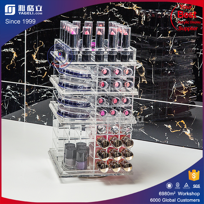 2016 High Quality Different Colors Lipstick Holder with Open Box Acrylic Lipstick Organizer