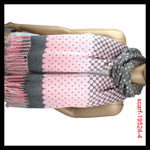 Lady dots print stole scarf shawl from Yiwu Manufacturer