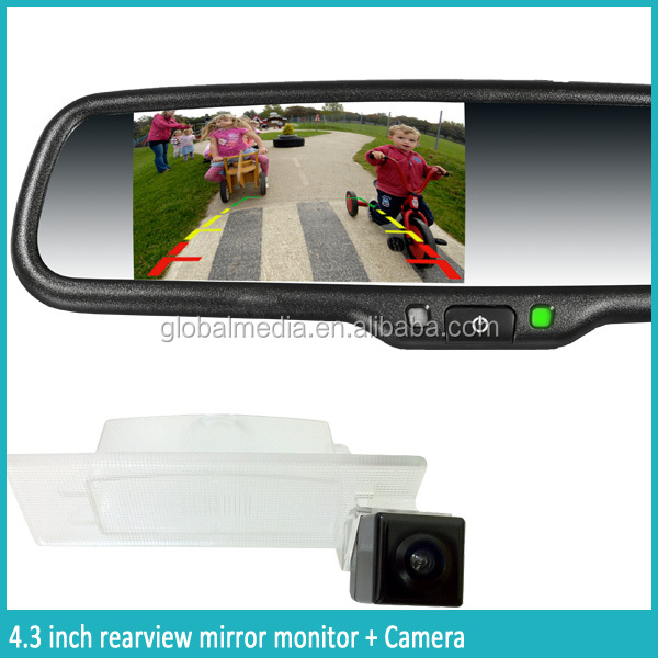 latest car bluetooth rear view mirror with backup camera OEM bracket