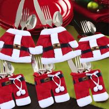 Santovsky obleček na príbor na Vianoce z Aliexpress
