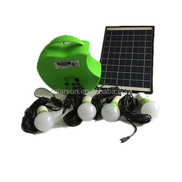 10W Portable Solar PV Panel Power Energy Lighting <strong>Kit</strong>