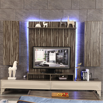 Living Room Furniture Latest Design Modern Lcd Mdf Wall Mount Tv