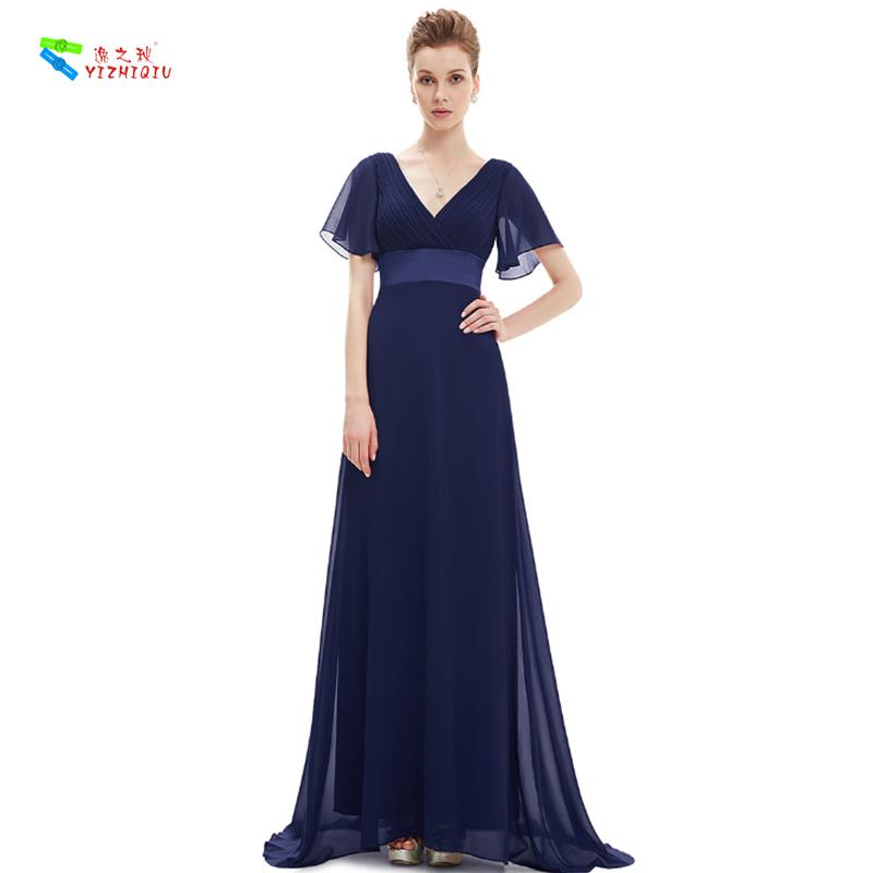 Yizhiqiu Azul Marinho Longo Chiffon Vestido De Dama De Honra Buy Vestido De Dama De Honravestido Azul Marinhovestido Longo De Chiffon Product On
