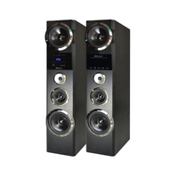 OEM Big power 8 inch 2.0 active floor standing speaker with Touch LED screen control