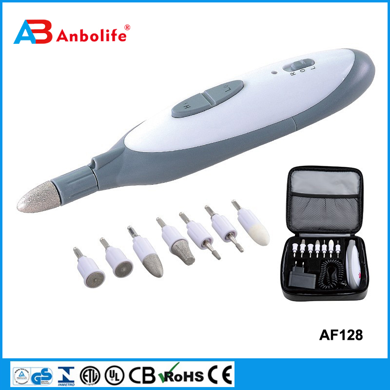 Anbolife care tips electric manicure nail drill nail art care professional machine electric manicure pedicure set kit