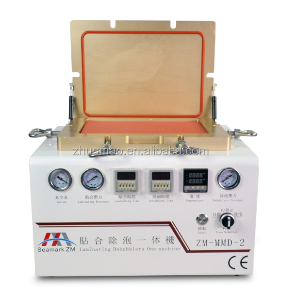 2015 Zhuomao automatic muitifunction laminating machine iphone LCD refurbish machine for vacuum glass lcd screen repair