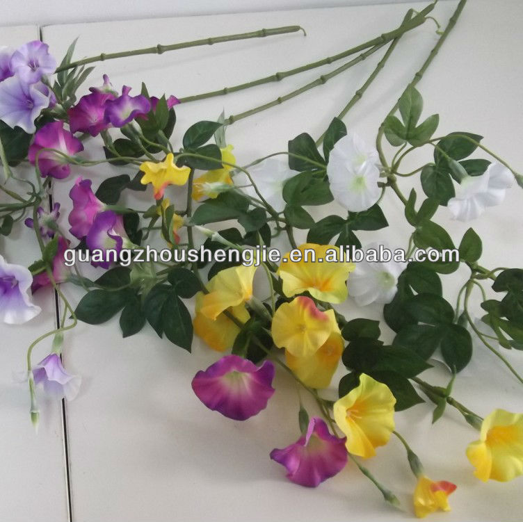 Artificial Flower,single branch morning glory