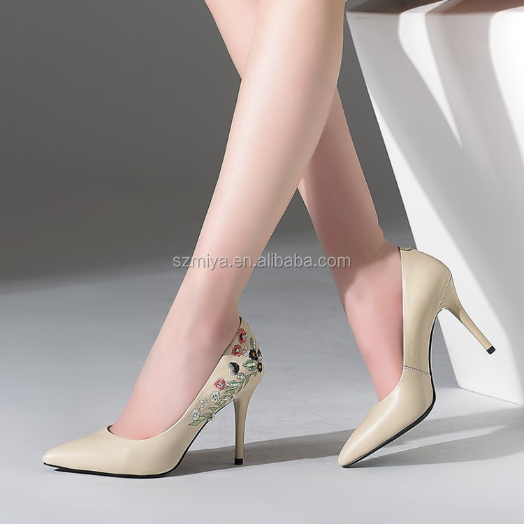 leather high ladies heel shoes shoes Fashion women wholesale party genuine x46q7Hn