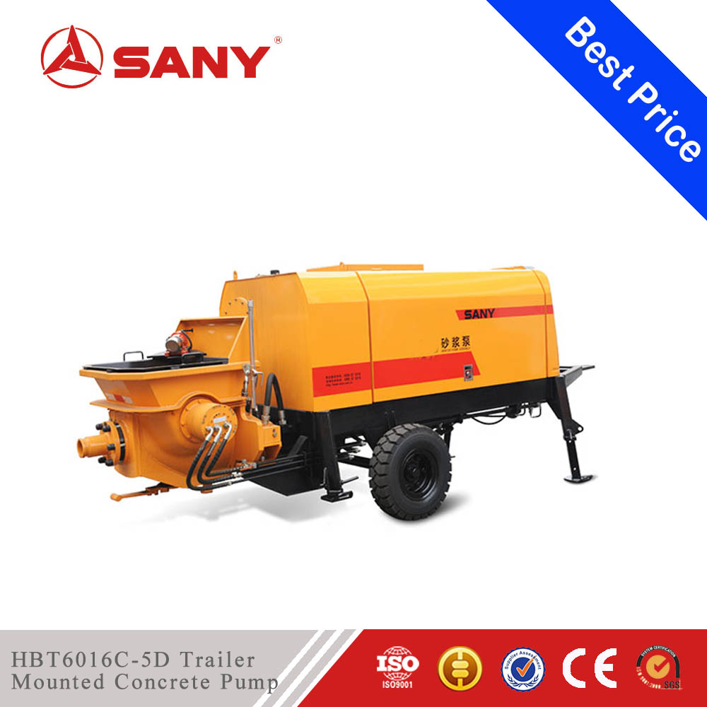 SANY HBT6016C-5D Diesel Trailer Mounted Concrete Pump Cement Grouting Mortar Pump with Best Price