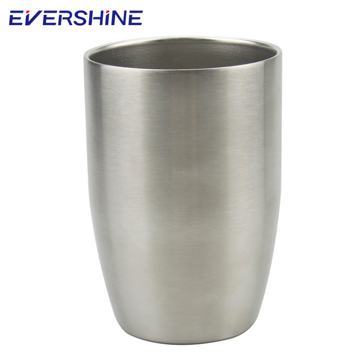 Wholesale double wall 250ml silver color stainless steel tumbler mug