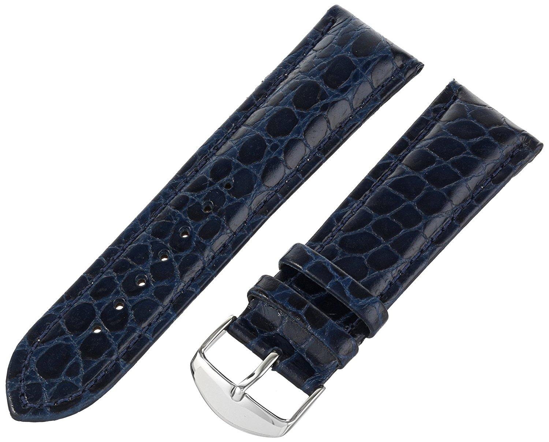 Hadley-Roma Men's MSM907RF-240 24-mm Blue Genuine Leather WatchStrap