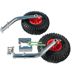 LONG FOLD UP Stainless Steel Boat Launching Wheels Rib Inflatable Tender Dinghy