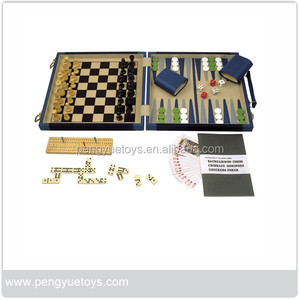 Classic chess games wood 5 in 1 chess set,chess box,PY5058