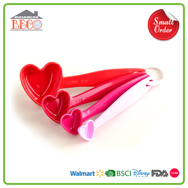 FDA Audit Heart Shaped 5g 15g 10g Plastic Measuring Spoon With Custom Size