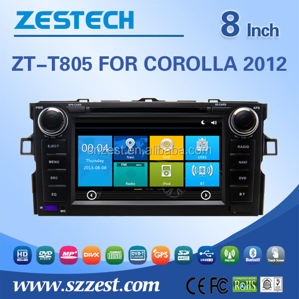 factory price vision car dvd player For <strong>TOYOTA</strong> <strong>Corolla</strong> 2012 support 3G audio DVB-T MP3 MP4 HDMI DVD function