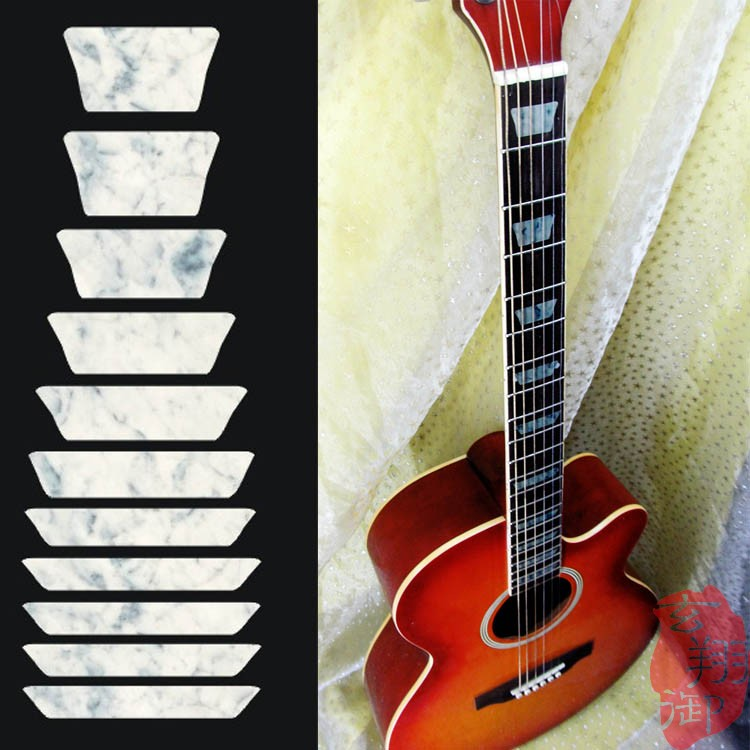 free shipping guitar sticker imitation abalone 13 inlay