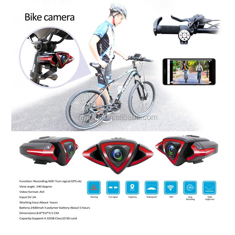 Açık su geçirmez 1080P mini wifi spor kamera bisiklet bisiklet için