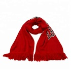 Newest selling simple design sports fans embroidered scarf with good offer