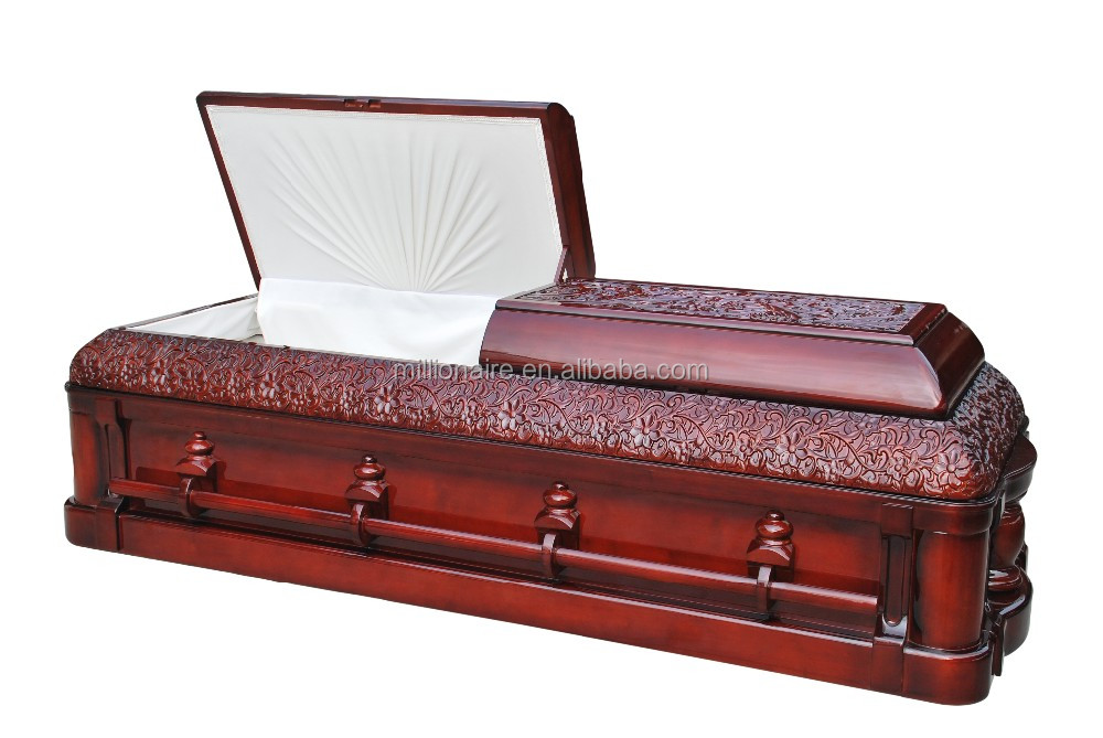 Jewish Nice Carved Funeral Luxury Caskets Made In China