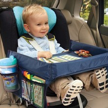 Baby Kids Children Toddlers Car Safety Belt Travel Play Tray Table Baby Car Seat Cover Harness