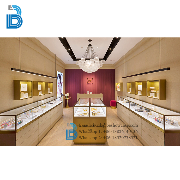High End Jewellery Showroom Furniture Decoration Jewelry Interior Design For Showcase