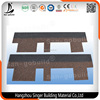 5-tab Asphalt Shingles Tiles, Coloured Glaze Red Asphalt Roof Shingles Made in China