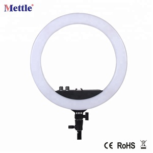 dimmable photographic LED video ring light for DSLR camera