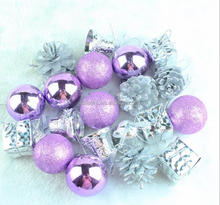 DEMIZXX634 Wholesale Custom Size New Fashion Purple Color Holiday Ornaments In Stock Alibaba Bell Christmas Outside Decorations