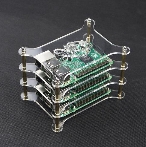 2-Layer Transparent Acrylic Case Clear Shell Enclosure with Logo for Raspberry Pi 2 Model B /& Raspberry Pi B Plus DIY